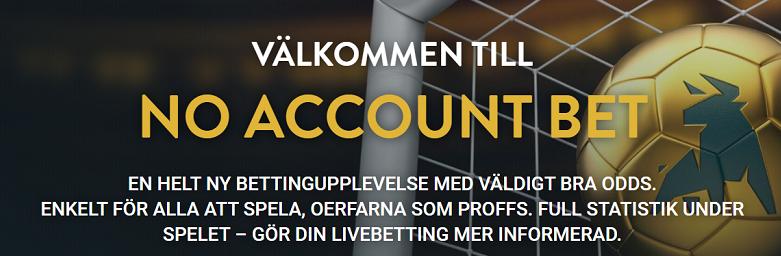 Nytt spelbolag i Sverige - No Account Bet