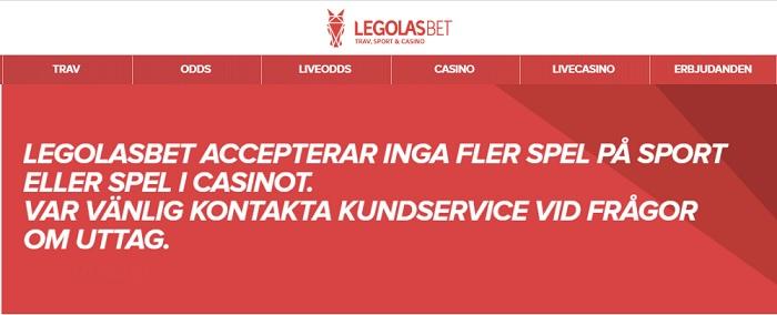 Legolasbet avslutade verksamheten 31 mars 2020