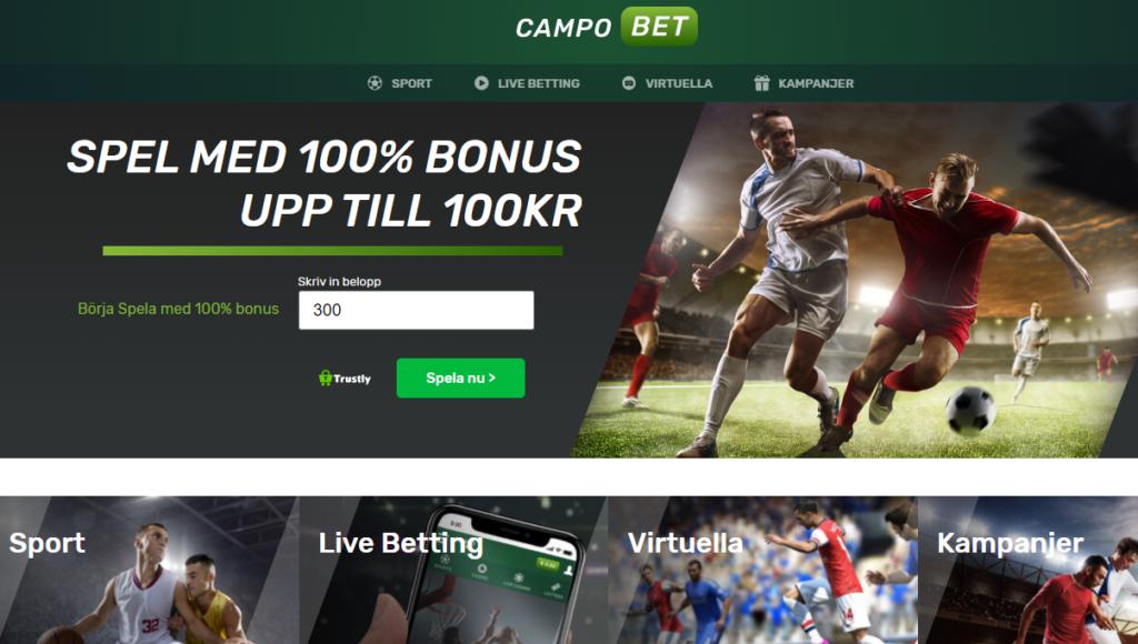 Campobet - Nytt spelbolag i Sverige